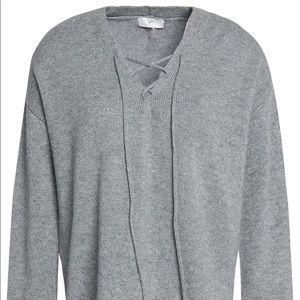Joie XXS Larkin Lace Up Sweater